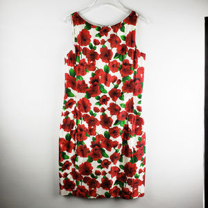CHETTA B Silk Floral Sheath Dress
